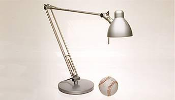 lamp and baseball