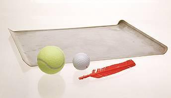 tennis ball golf ball feather tray